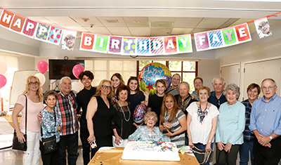 Jewish Home celebrates resident Faye Levitt's 106th birthday